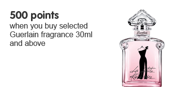 500 points when you buy selected Guerlain