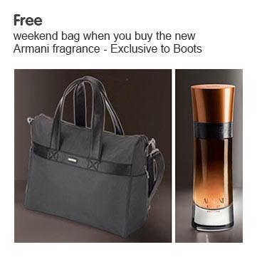 Free gift when you buy selected Giorgio Armani