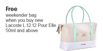 Free weekend bag when you buy
