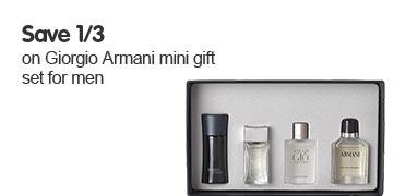 Save 1/3 on Giorgio Armani mini gift set for men