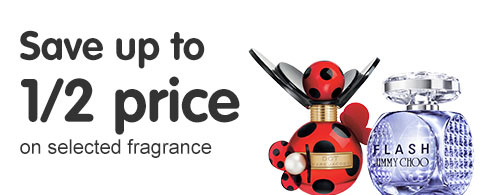 Save up to half price on selected fragrances