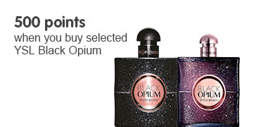 500 points when you buy selected YSL Black Opium