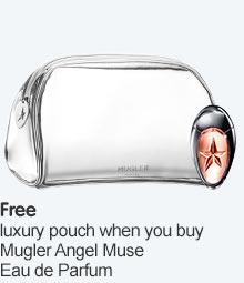 Free luxury pouch when you buy selected Angel Muse Refillable EDP
