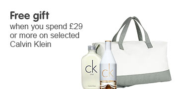 Free gift when you spend £29 or more on selected Calvin Klein