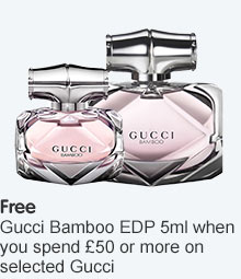 Free Gucci Bamboo 5ml when you spend £50 or more on selected Gucci