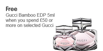 Free Gucci EDT 5ml when you spend £50 or more on selected Gucci