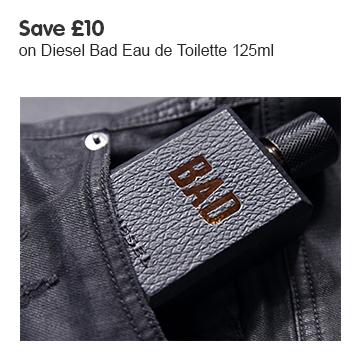 Save £10 on Diesel Bad 125ml