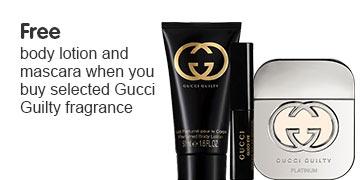 Free Gucci body lotion and mascara