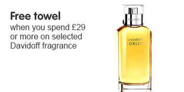 Free towel when you spend £29 on selected Davidoff fragrance