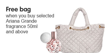 Free bag when you buy selected Ariana Grande fragrance