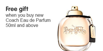 Free gift when you buy new Coach 50ml and above