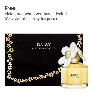 Free clutch bag when you buy selected Marc Jacobs Daisy