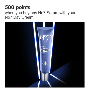 Five hundred points when you buy a number seven serum and day cream