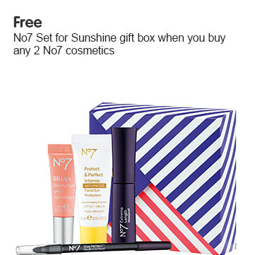 Free gift when you buy two or more number seven make up