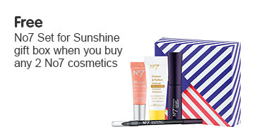 Free gift when you buy two or more number seven cosmetics