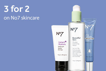 3 for 2 on No7 Skincare
