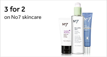 Three for two on number seven skincare