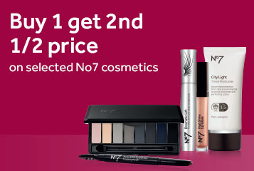 Buy one get second half price on number seven make-up