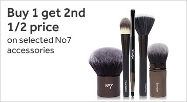 Buy one get second half price on number seven accessories