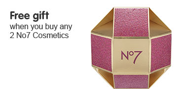 Free gift when you buy any two selected Number Seven cosmetics