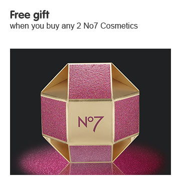 Free gift when you buy two or more selected Number Seven makeup