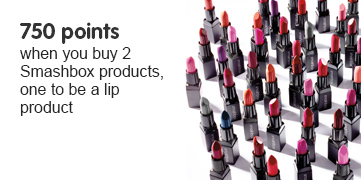 750 points when you buy 2 Smashbox products, one to be lipa