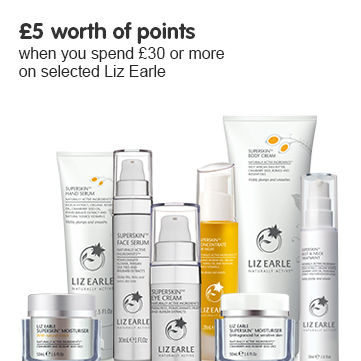 500 points when you spend £30 or more on selected Liz Earle