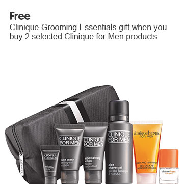 Free Clinique Grooming Essentials Gift when you buy 2 or more Clinique for Men products
