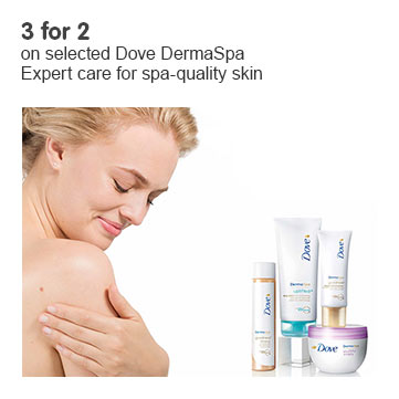 Three for two on Dove Derma