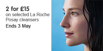 Two for fifteen pounds on selected La Roche Posay Cleansers