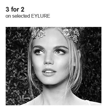 Three for two on selected eylure