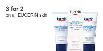 Three for two on all eucerin skin