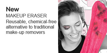 New Make Up Eraser, reusable, chemical free alternative to traditional make up removers