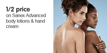 save up to half price on sanex advanced body lotions and hand cream