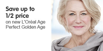 Save up to half price on loreal age perfect golden age