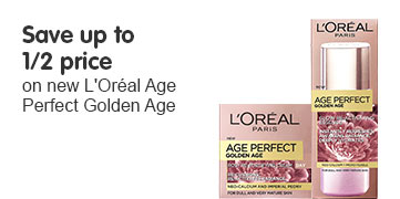 save up to half price on new l'oreal golden age