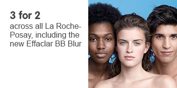 Three for two on all La Roche Posay
