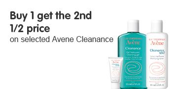 Buy 1 get 2nd Half price on Avene Cleanance