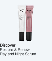 Discover no7 restore and renew day and night serums