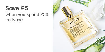 Save five pounds when you spend thirty on nuxe
