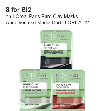 New L'oreal Paris Pure Clay Facial Masks