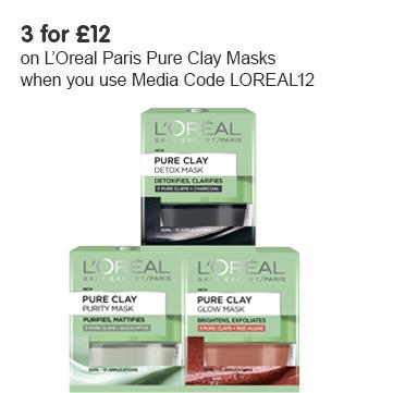 New L'oreal Paris Pure Clay Facial Masks