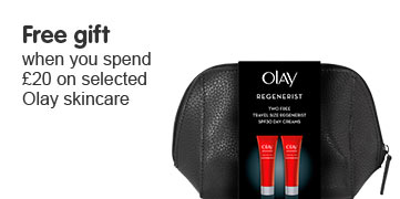 Free gift when you spend twenty pounds on selected Olay