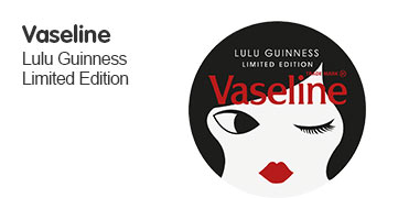 New limited edition vaseline lip tin designed by lulu guiness
