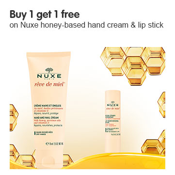 Buy 1 get 1 free on selected Nuxe - cheapest free