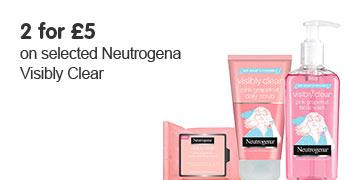 Two for five pounds on Neutrogena Visibly Clear
