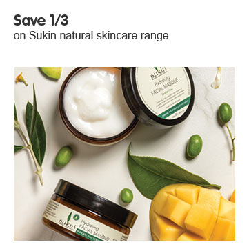 Save a third on selected Sukin