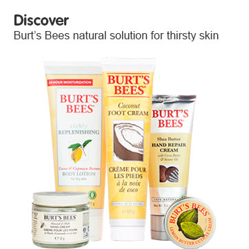 Discover Burts Bees range for thirsty skin