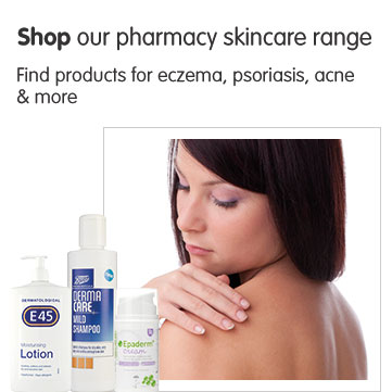 Shop our pharmacy skin care range.
