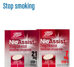 Boots pharmaceuticals stop smoking products